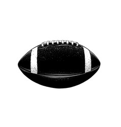 drawing rugball in black color vector image