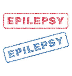 Epilepsy textile stamps vector