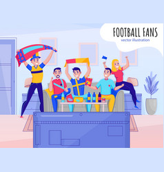 fans cheering team composition vector image