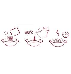 Fast soop schema of cooking vector