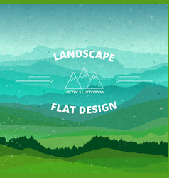 Flat landscape textured beautiful vector