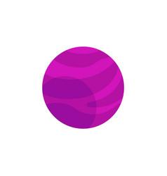 Flat purple planet icon vector