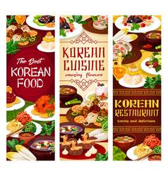 Food korea national cuisine vector