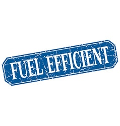 Fuel efficient blue square vintage grunge isolated vector