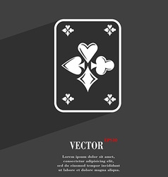 game cards symbol Flat modern web design with long vector image