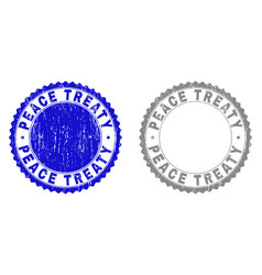 Grunge peace treaty scratched watermarks vector