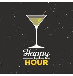 Happy hour label vector image