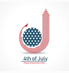 happy independence day united states 4th july vector image