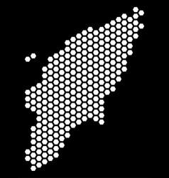 Hexagonal greek rhodes island map vector