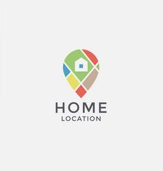 house pin logo icon template vector image