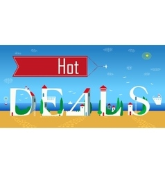 Inscription Hot deals vector