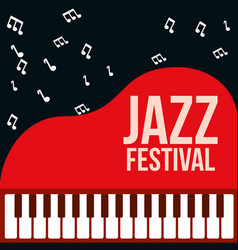 jazz festival poster vector image