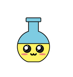 Kawaii cute tender erlenmeyer flask vector