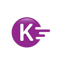 Letter k dash logo design vector