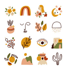 little modern style collection set vector image