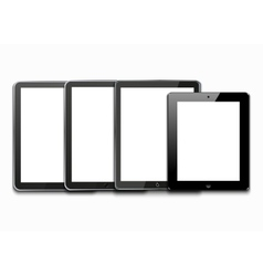 modern computer tablets on white vector image