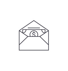 money in an envelope line icon sign vector image