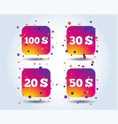 Money in dollars icons hundred fifty usd vector