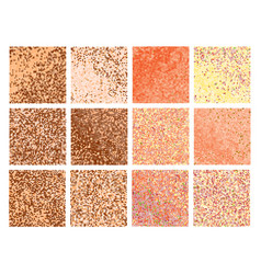 Mosaic with bright pixels vector