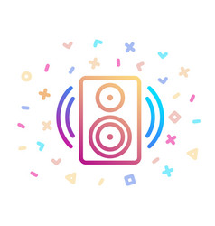 music speaker surrounded festive decor vector image