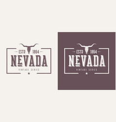 Nevada state textured vintage t-shirt and vector
