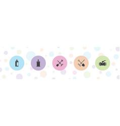 Nozzle icons vector