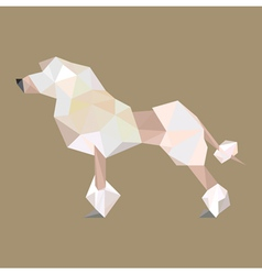 origami puddle dog vector image vector image