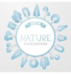 Paper nature background vector