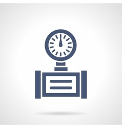 Pipe gauge glyph style icon vector image