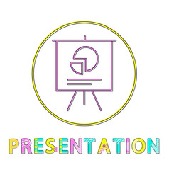 Presentation whiteboard icon vector
