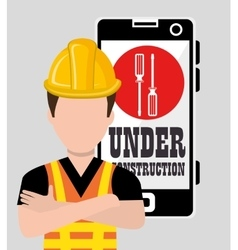 Professional construction on site vector