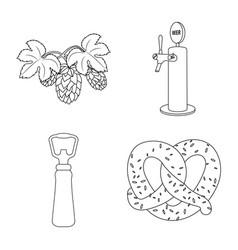 Pub and bar symbol set of vector