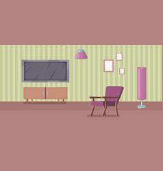 room interior banner horizontal cartoon style vector image