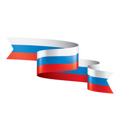 Russia flag on a white vector
