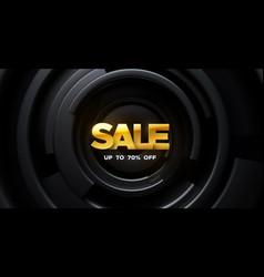 Sale banner design vector