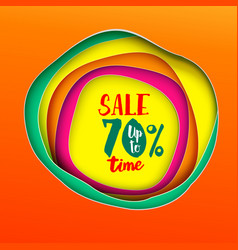 Sale time banner vector