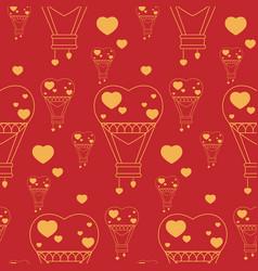 Seamless pattern balloons vector