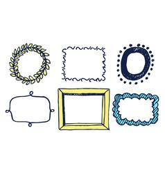 set multicolored frames vector image