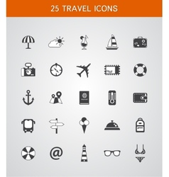 Set of travel flat design icons vector image