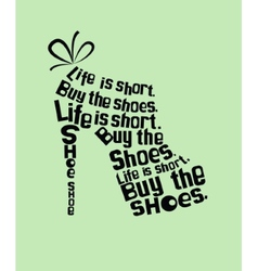 Shoe from quotes vector