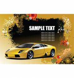 sport car with background vector image
