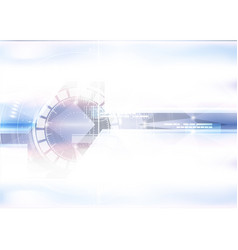 technological geometric colorful scanning space vector image