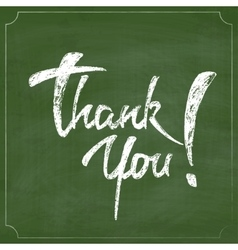 Thank You Chalk Hand Drawing Greeting Card over vector image