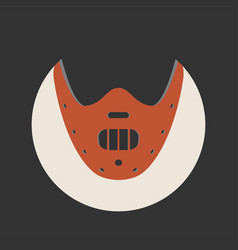 the silence of the lambs movie icon vector image