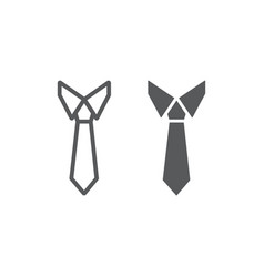 tie line and glyph icon office and business vector image
