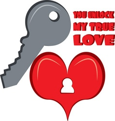 Unlock my true love vector