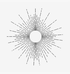 vintage linear sunrays vector image