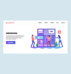 Web site onboarding screens developers build vector