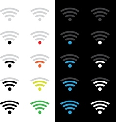 Wireless technology icons vector image