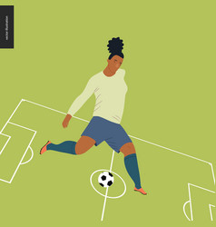 Womens european football soccer player vector